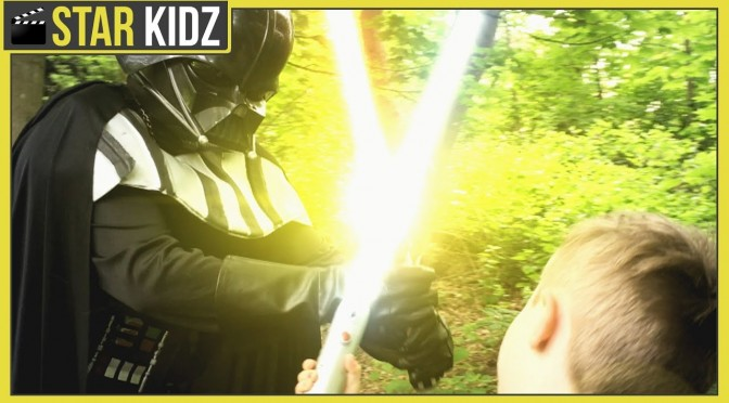 Star Wars In Real Life | Kids Battle Darth Vader | Lightsaber Showdown