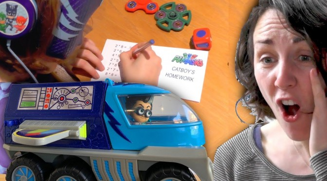 PJ Masks NEW! Mega Rover – Romeo Steals Homework