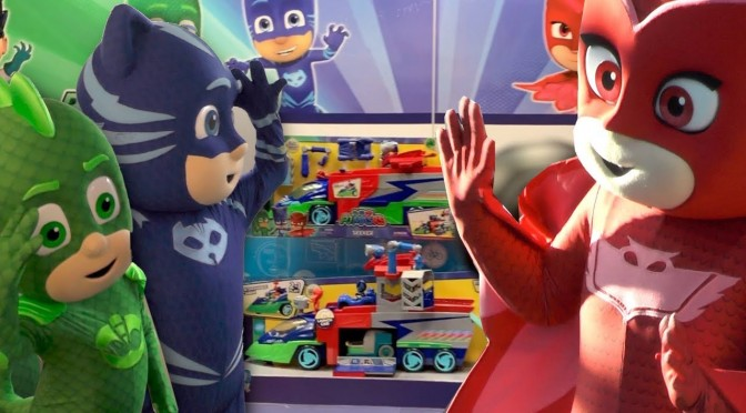 Owlette Trapped In PJ Masks Toy Fair Room
