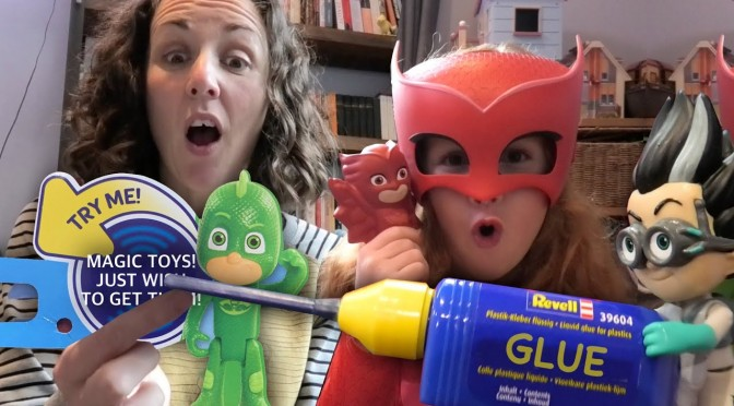 Romeo Glues PJ Masks Truck Shut – But Gets Trapped